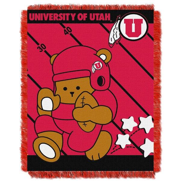 University of Utah Red Woven Acrylic Baby Blanket