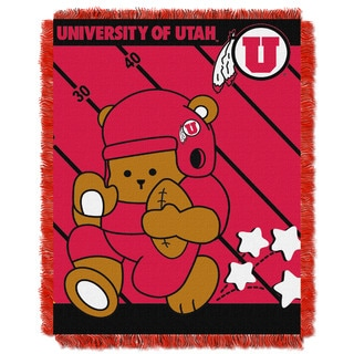 University of Utah Red Woven Acrylic Baby Blanket