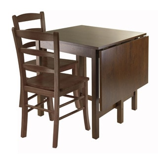 Winsome Lynden Brown Wood 3-piece Drop-leaf Dining Table Set