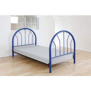 Silhouette Blue Twin Headboard and Footboard