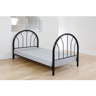 Silhouette Black Metal Twin Headboard and Footboard