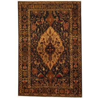Herat Oriental Afghan Hand-knotted 1980s Semi-antique Tribal Balouchi Wool Rug (3'8 x 5'7)