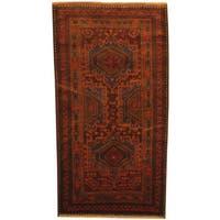 Handmade Herat Oriental Afghan 1980s Semi-antique Tribal Balouchi Wool Rug  - 3'8 x 6'10 (Afghanistan)