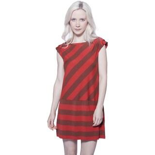 A to Z Modal Bias Stripe Dress