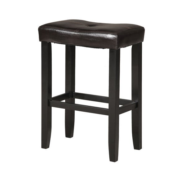 Micha Espresso Black Counter Height Stools Set Of 2