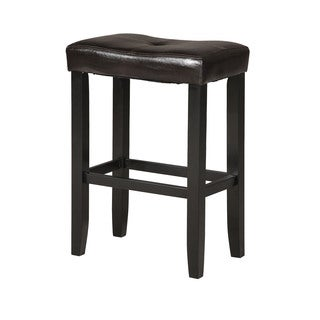 Micha Espresso/Black Counter Height Stools (Set of 2)