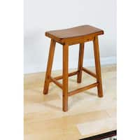 Gaucho Oak-finished Rubberwood Counter-height Stool (Set of 2)
