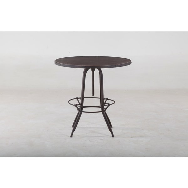 Y decor pub table adjustable solid mango wood top bar pub for 99 pub table