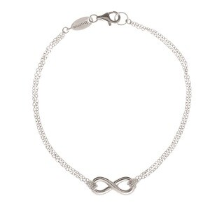 Boma by Pearlyta Sterling Silver Infinity Double Chain Bracelet