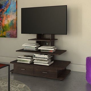 Altra Galaxy Dark Walnut 70-inch TV Stand with Mount and Drawers