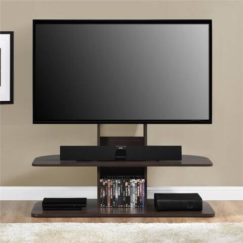 Ameriwood Home Galaxy Dark Walnut 65-inch TV Stand with Mount