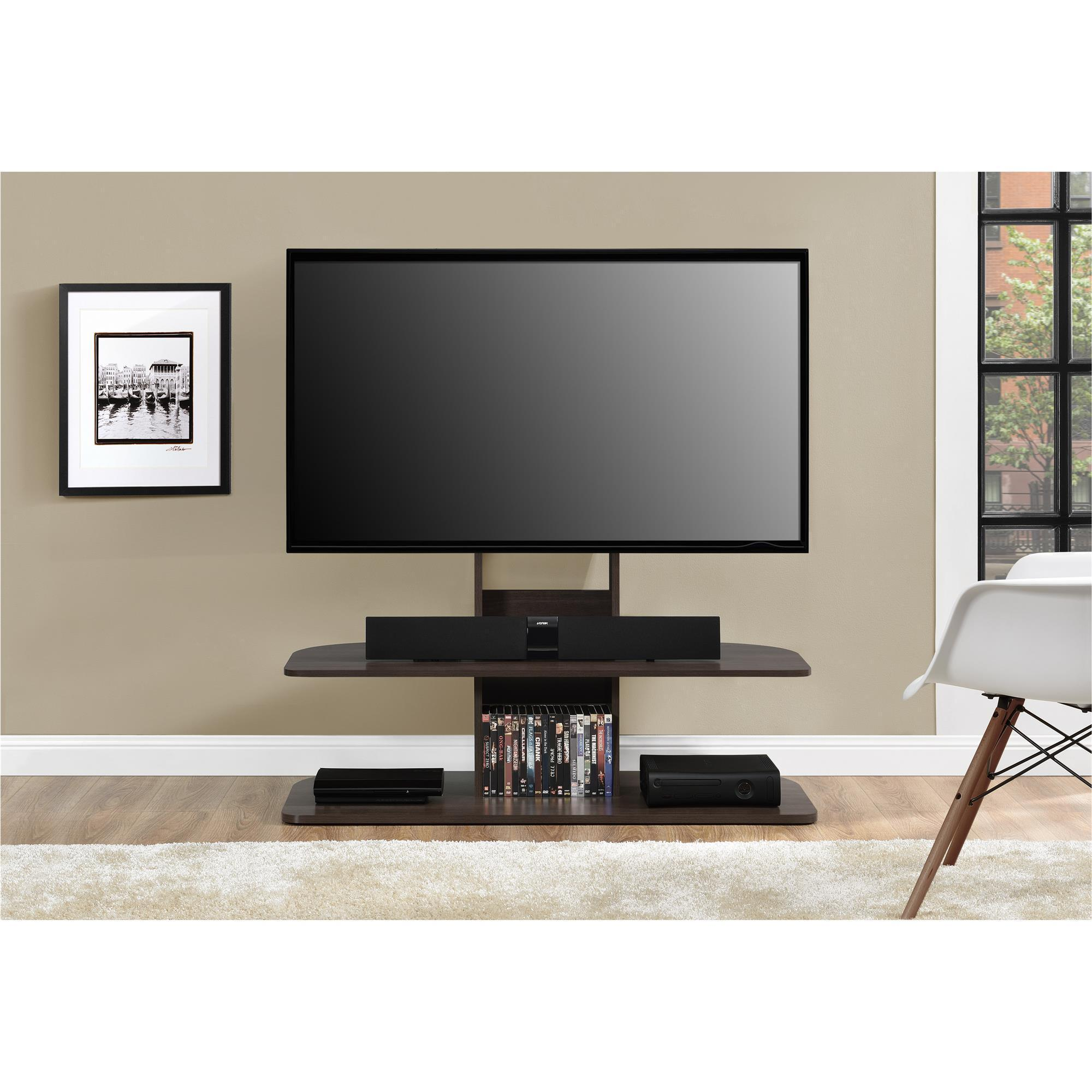 Shop Ameriwood Home Galaxy Dark Walnut 65 Inch Tv Stand With Mount