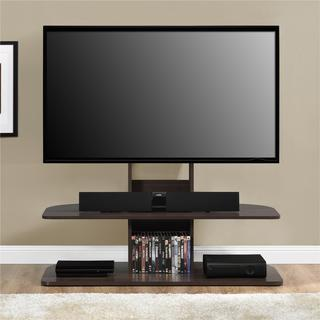 Ameriwood Home Galaxy Dark Walnut 65-inch TV Stand with Mount