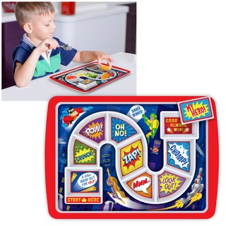 Fred & Friends Virgin Melamine Dishwasher-free Dinner Winner Meal Tray Supper Hero Board Game