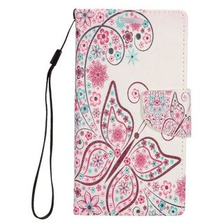 Insten Colorful Butterfly Leather Case Cover Lanyard with Stand/ Wallet Flap Pouch/ Photo Display For Samsung Galaxy S7 Edge