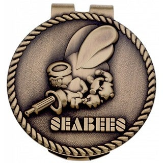 US Navy Seabees Metal Money Clip
