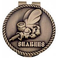US Navy Seabees Metal Money Clip
