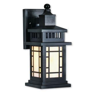 Livex Lighting Mirror Lake Bronze Brass 1-light Outdoor Wall Lantern