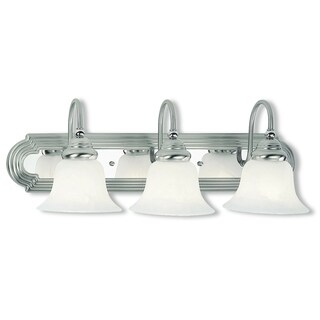 Livex Lighting Belmont Brushed Nickel and Chrome 3-light Vanity Fixture