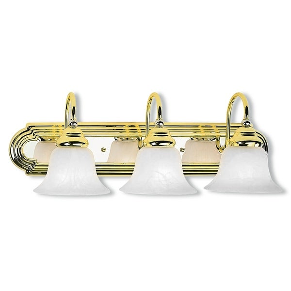 Livex lighting belmont polished brass and polished chrome 3 light livex lighting belmont polished brass and polished chrome 3 light bath light aloadofball Image collections