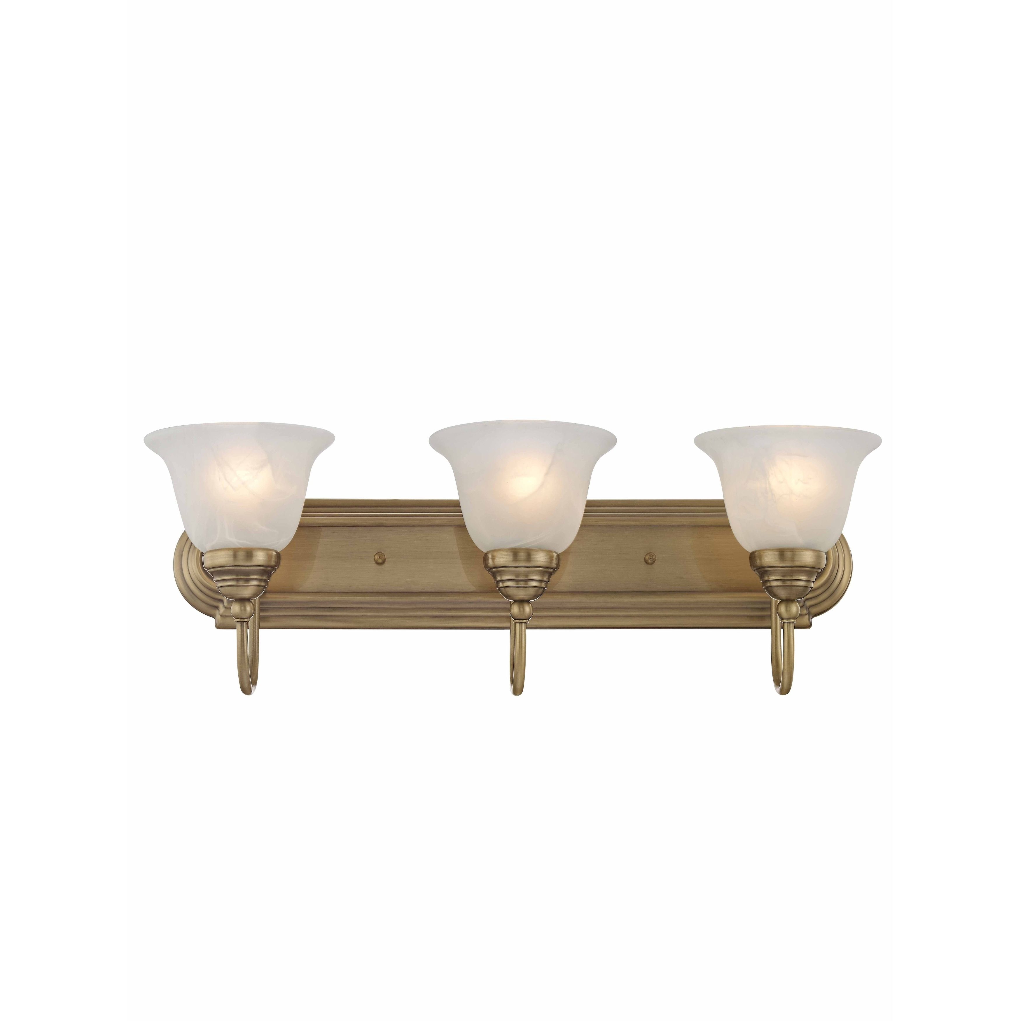 Livex Lighting Belmont Gold Brass 3 Light Bathroom Fixture