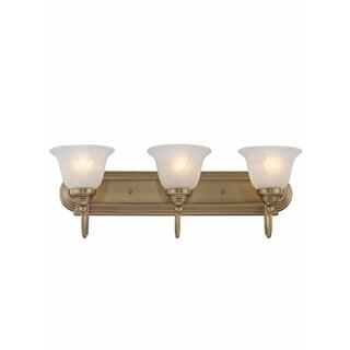 Livex Lighting Belmont Gold Brass 3-light Bathroom Light Fixture