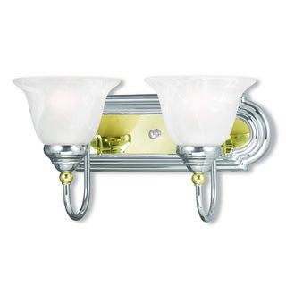 Livex Lighting Belmont Polished Chrome and Polished Brass 2-light Bath Light