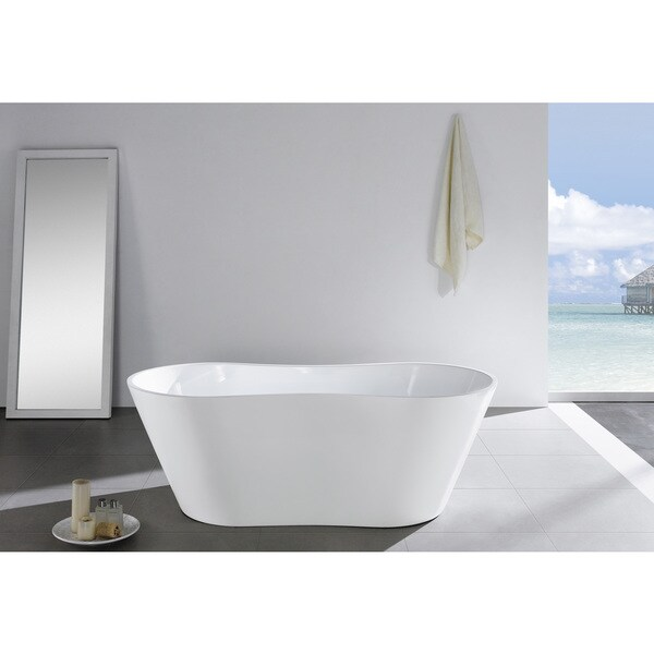 Eviva Smile Acrylic Free Standing 67 Inch Bathtub