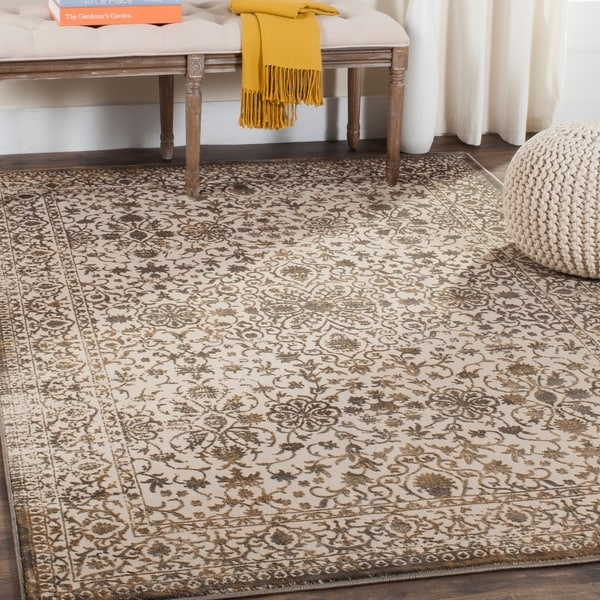 Safavieh Brilliance Vintage Cream/ Bronze Distressed Rug - 4' x 6'