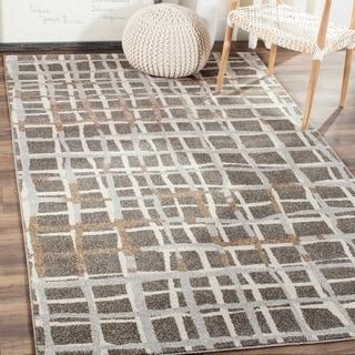 Safavieh Indoor/ Outdoor Amherst Grey/ Ivory Rug (8' x 10')