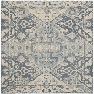Safavieh Handmade Restoration Vintage Charcoal/ Ivory Wool Rug (6' Square)
