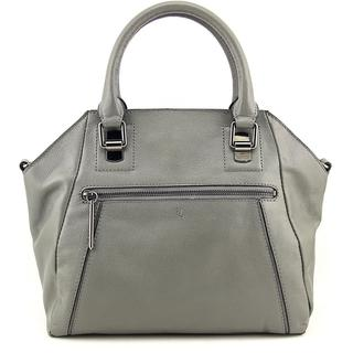 Elliott Lucca Women's Faro City Satchel Grey Leather Handbag