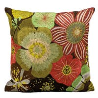 kathy ireland 16-inch Flowers Multicolor Throw Pillow by Nourison