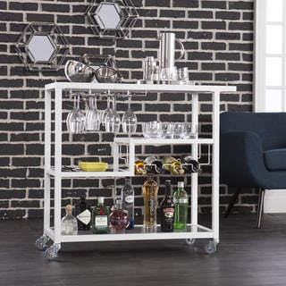 Holly & Martin Zephs White Bar Cart - Thumbnail 0