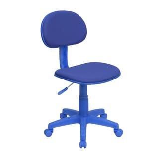 Eracle Blue Fabric/Metal/Nylon Armless Ergonomic Swivel Adjustable Office Chair