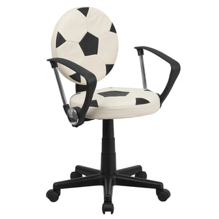 Soccer Ball Design Adjustable Swivel Office Chair
