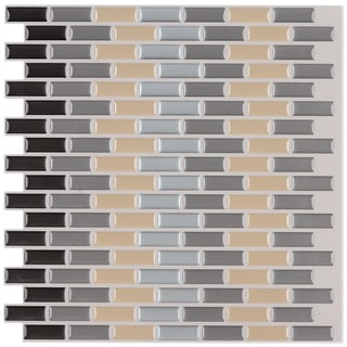 Peel and Stick 12-inch Mosaic Tiles (Pack of 6)