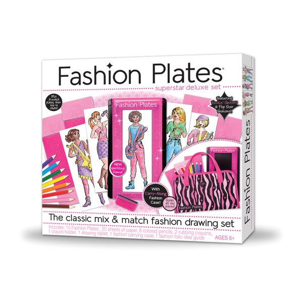 Fashion Plates Superstar Deluxe Fashion Drawing Set
