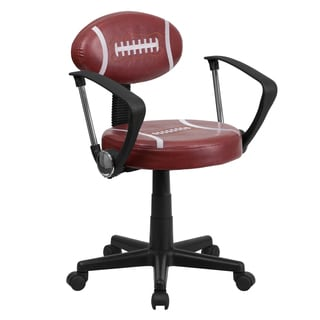 Faux-leather Football-design Adjustable Swivel Office Chair