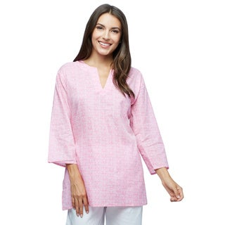 Baby Pink Pattern Cotton Tunic (India)
