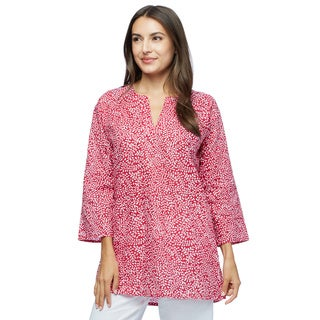 Handmade Pretty in Red Cotton tunic (India) (5 options available)