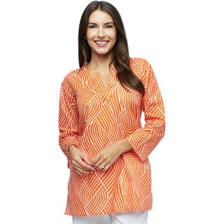 Orange Power Cotton Indian Tunic