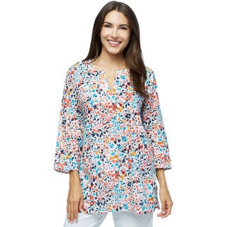 Say it with Flowers! Print Tunic