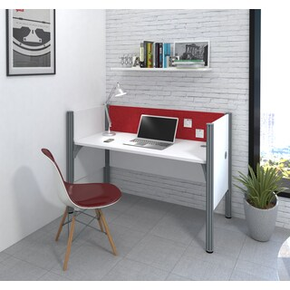 Bestar Pro-Biz Simple workstation in White with TackBoard