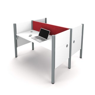 Bestar Pro-Biz Double face to face workstation in White with TackBoards