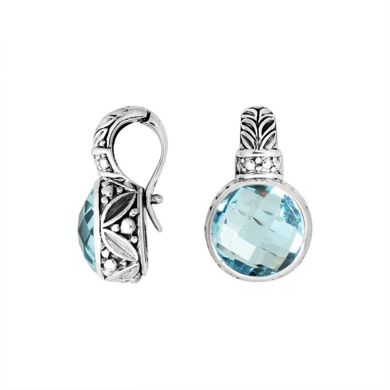 Handmade Sterling Silver Round Faceted Gemstone Enhancer ...