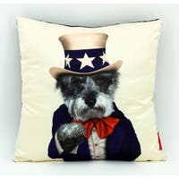 Empire Art Pets Rock Uncle Sam Throw Pillow 18-inch