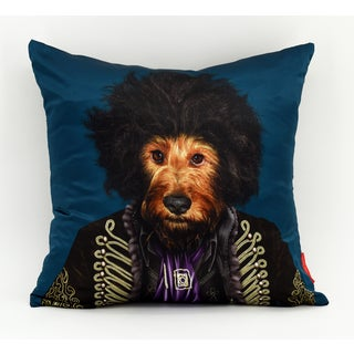 Empire Art Pets Rock Psychedelic Throw Pillow 18-inch