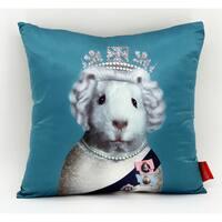 Empire Art Pets Rock HRH Throw Pillow 18-inch