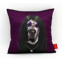 Empire Art Pets Rock Metal Throw Pillow 18-inch